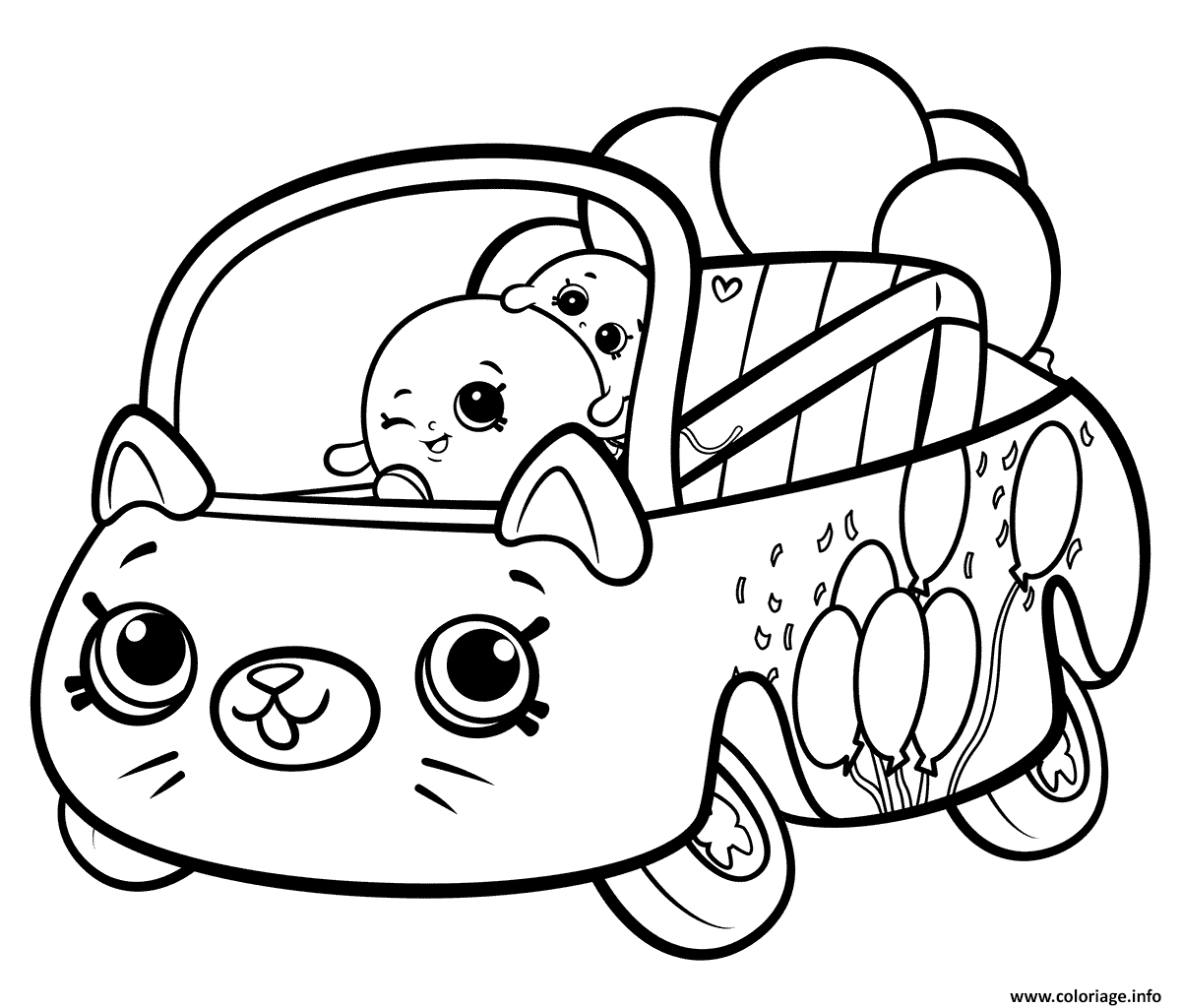 Coloriage Shopkins Cutie Cars Bumper