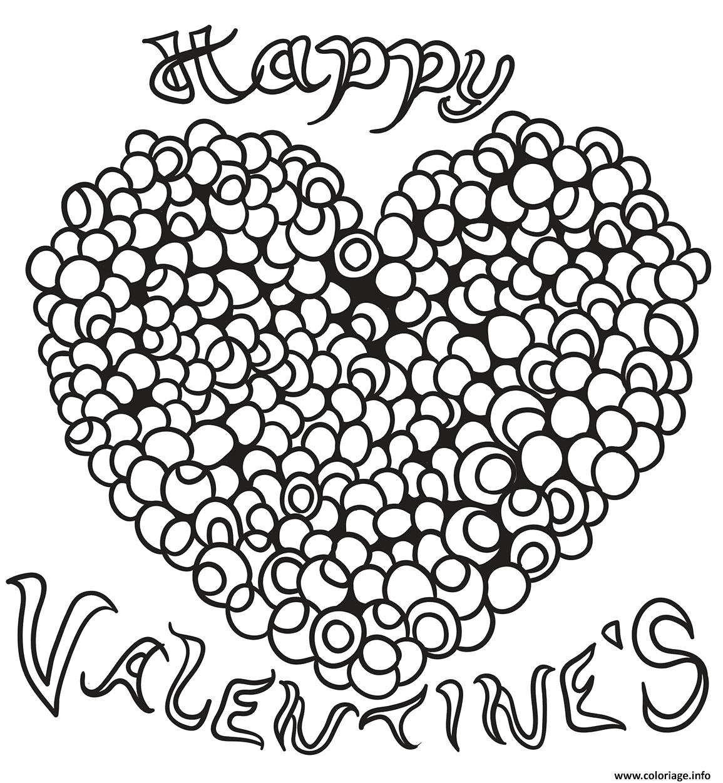 Dessin joyeux valentines coeur adulte Coloriage Gratuit à Imprimer