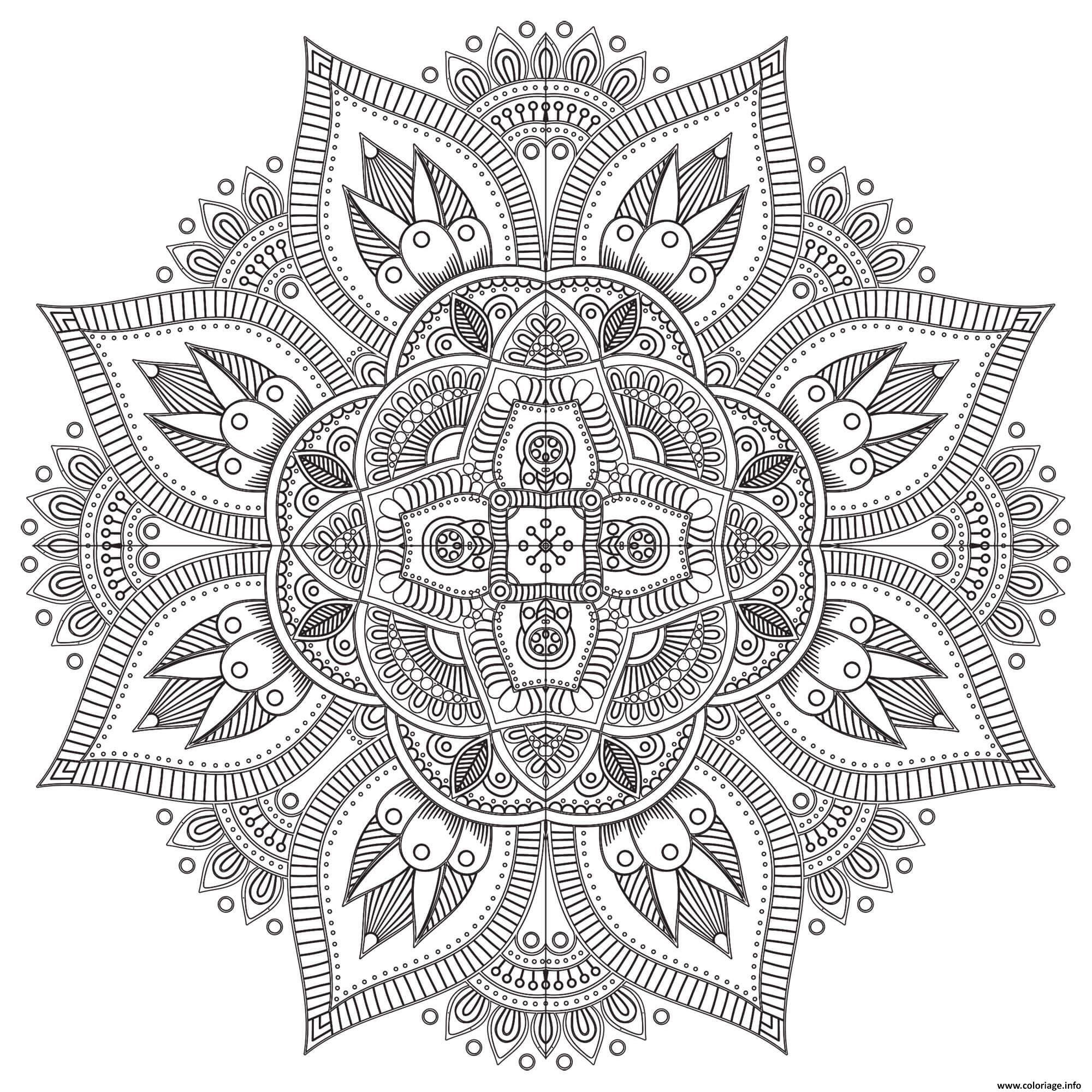 Coloriage Mandala Zen Antistress Difficile Dessin