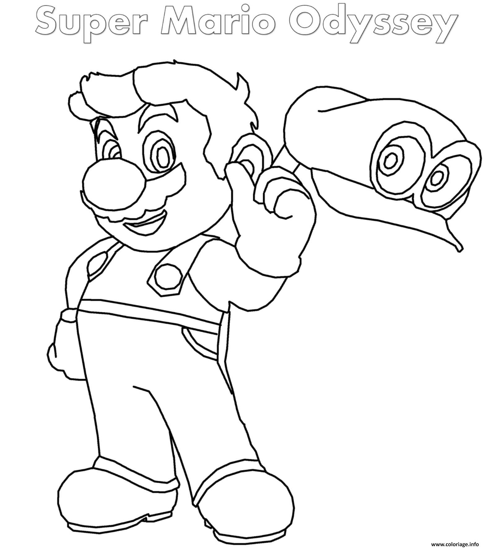 Coloriage Super Mario Odyssey Jecolorie Com