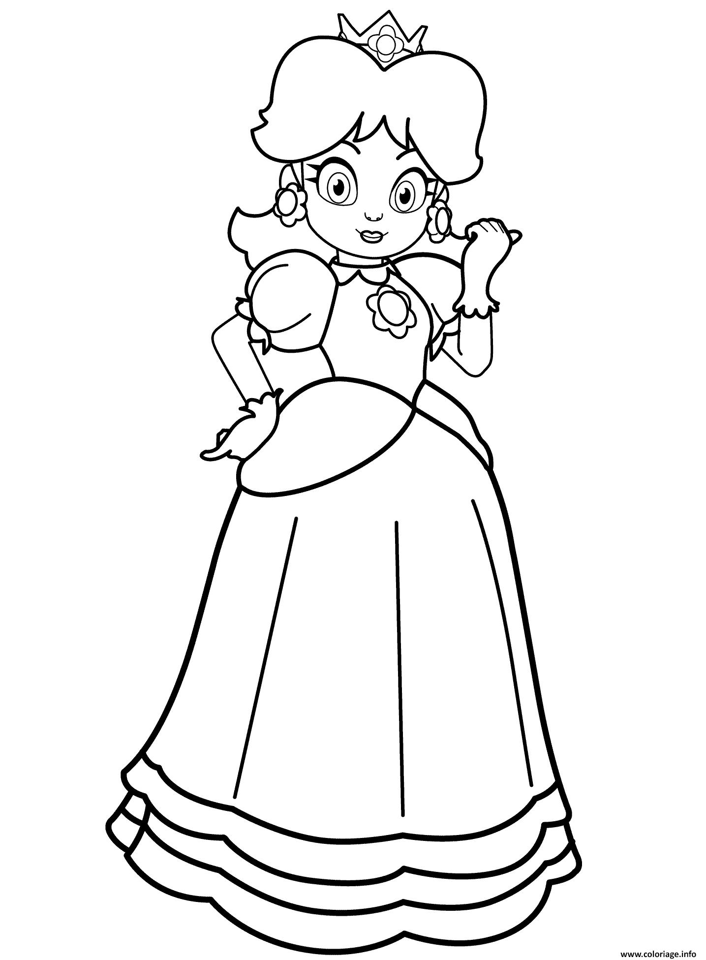 Coloriage Princess Daisy Dessin