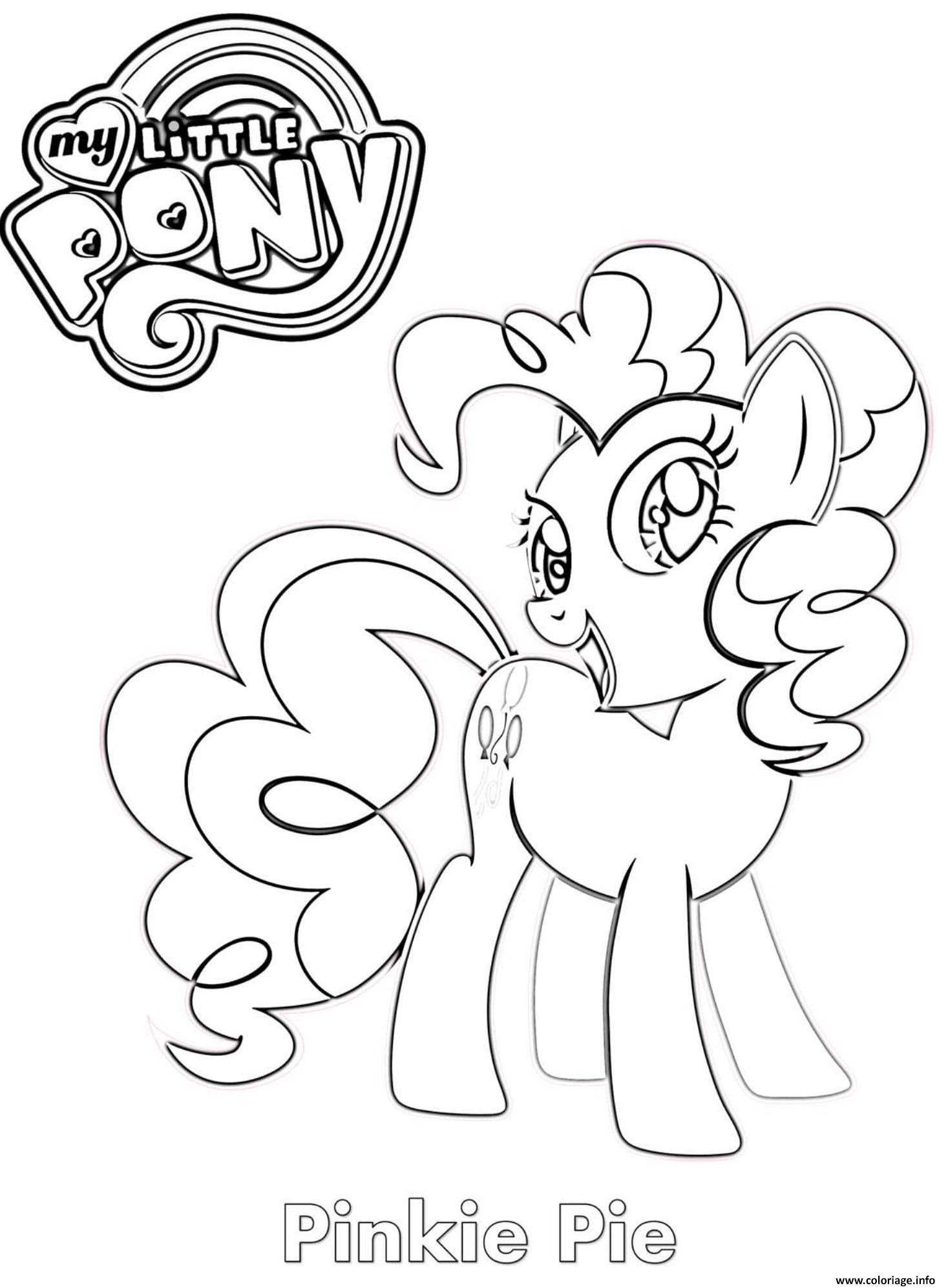 Coloriage Pinkie Pie MLP - JeColorie.com