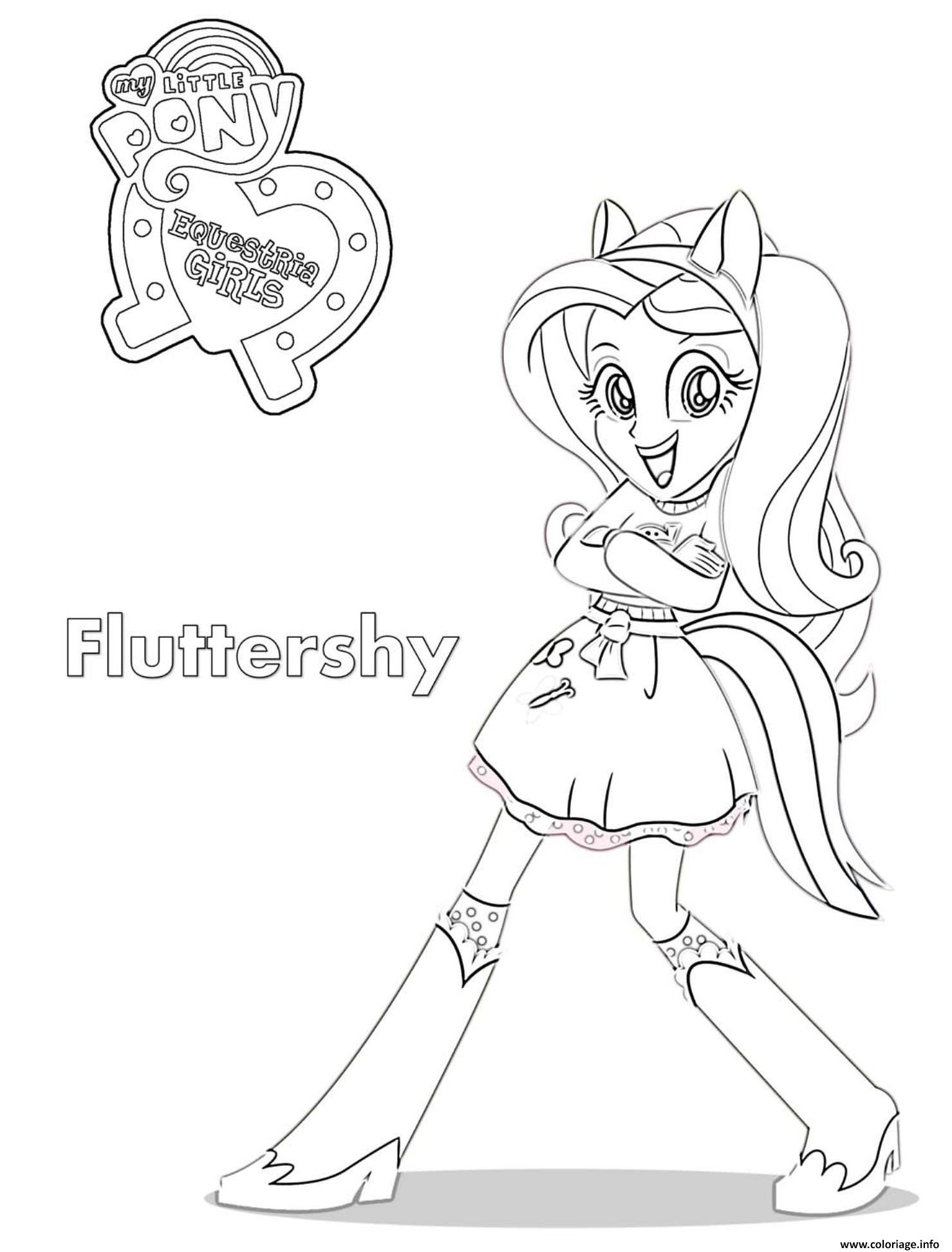 Coloriage Equestria Girls Fluttershy dessin