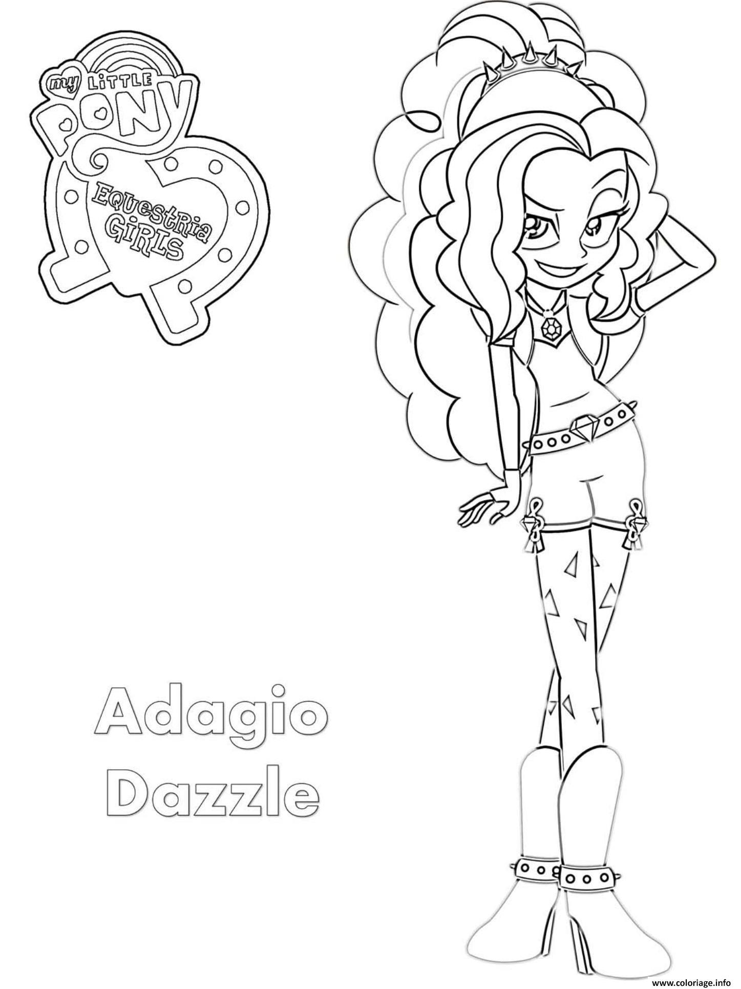 Coloriage equestria girls adagio dazzle - Coloriage equestria girl a imprimer ...
