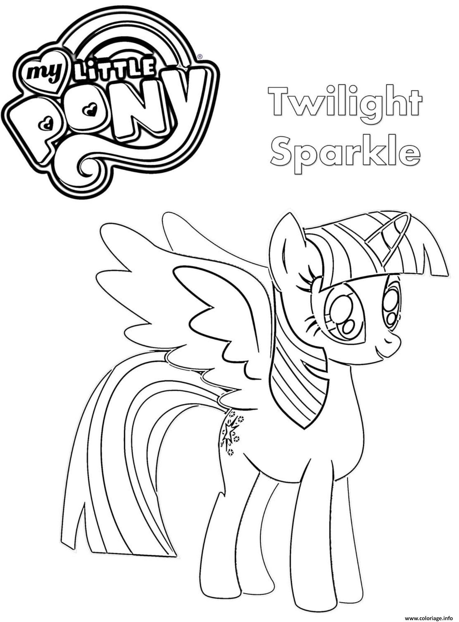 Dessin Twilight Sparkle My Little Pony Coloriage Gratuit à Imprimer