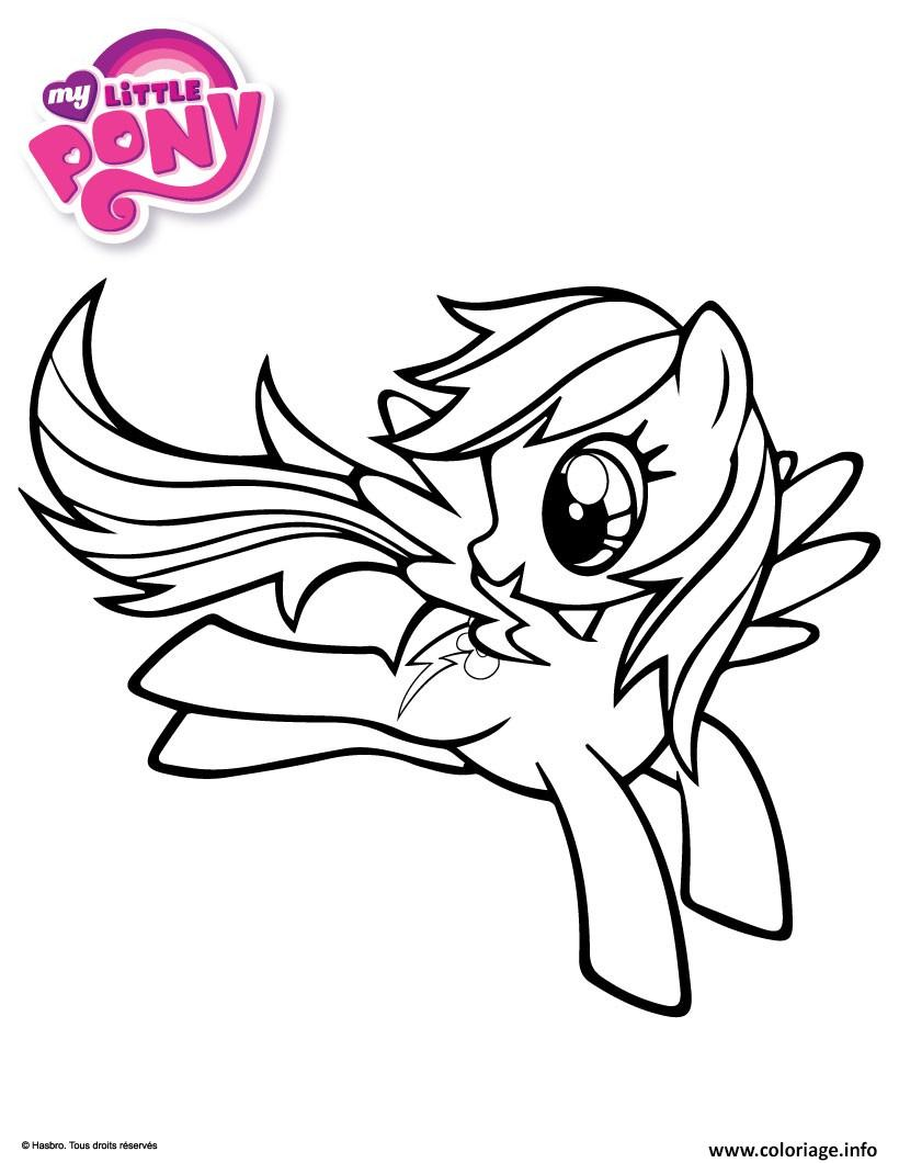 Coloriage Rainbow Dash My Little Pony Dessin