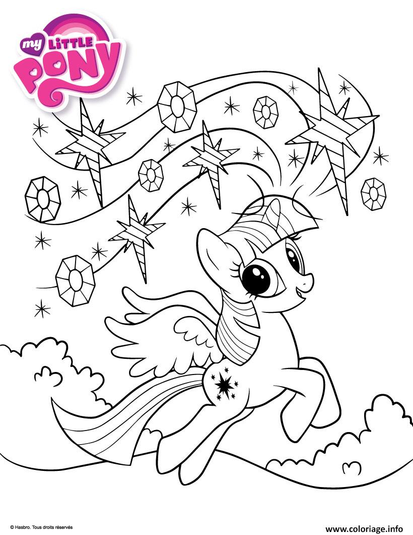 Dessin rainbows my little pony Coloriage Gratuit à Imprimer