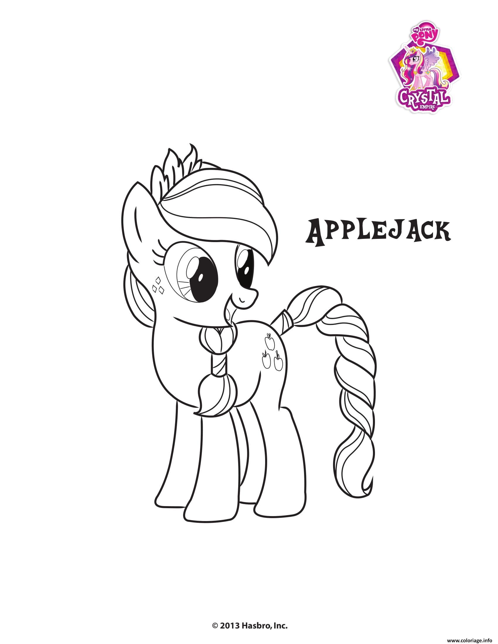 Dessin Applejack Crystal Empire My little pony Coloriage Gratuit à Imprimer