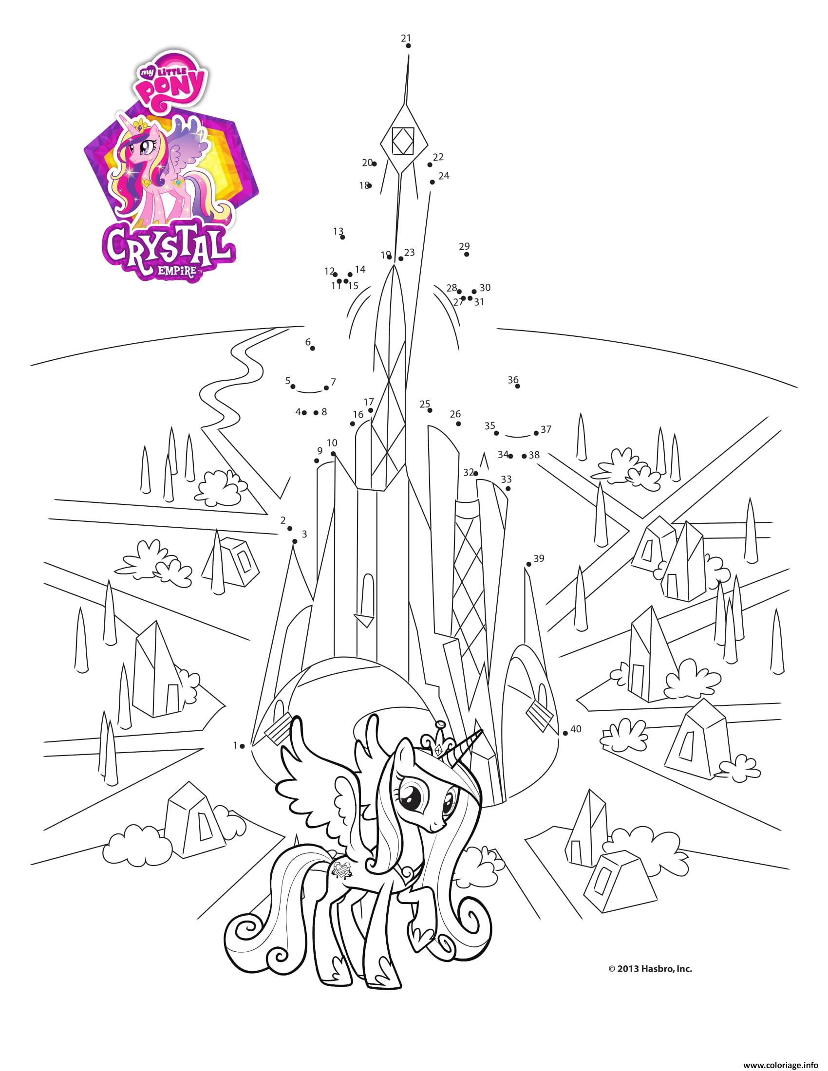 Coloriage Connect The Dots Crystal Empire My Little Pony Dessin à Imprimer