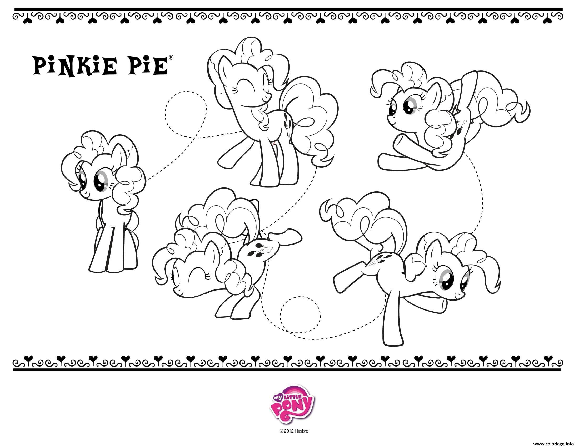 Dessin pinkie pie my little pony Coloriage Gratuit à Imprimer