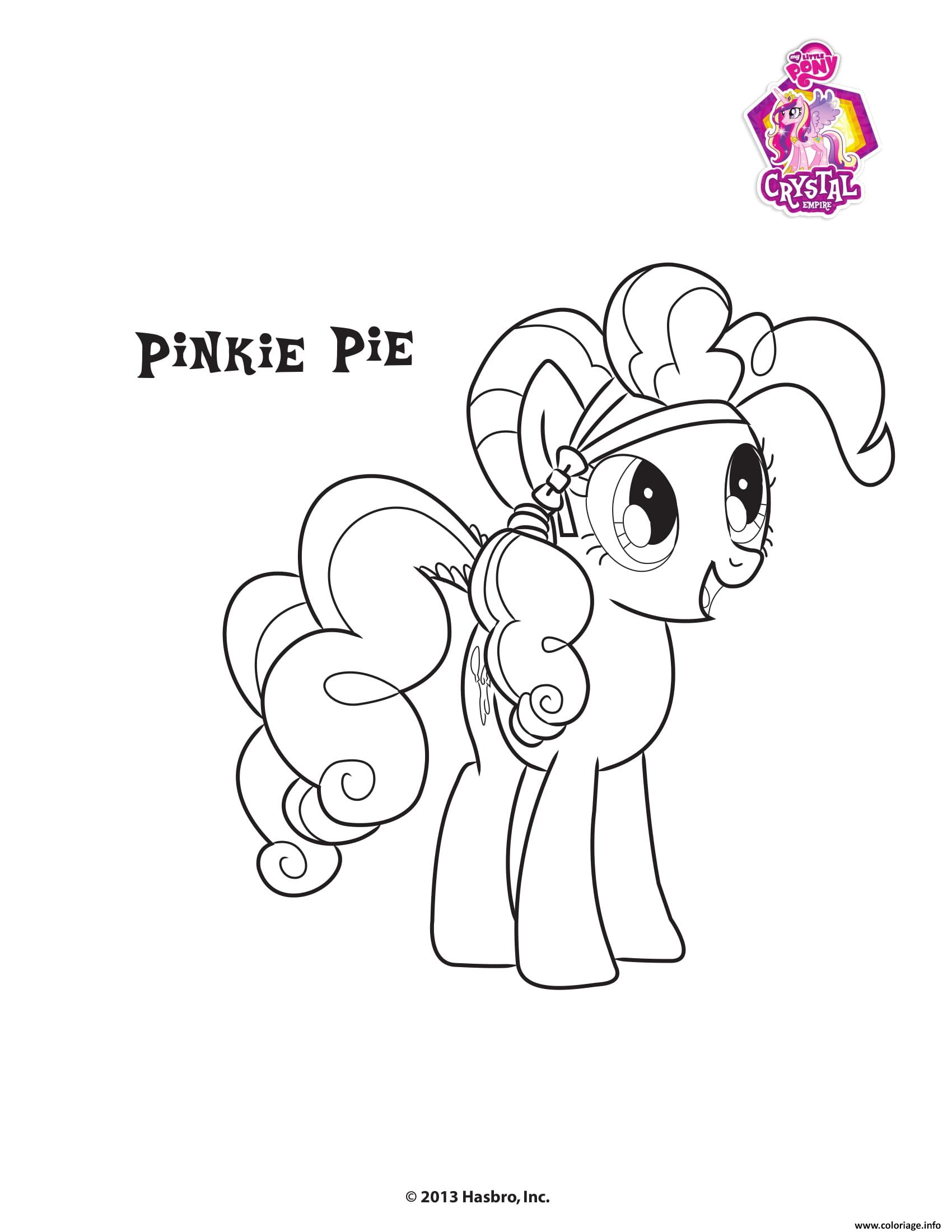 Coloriage Pinkie Pie Crystal Empire My Little Pony Dessin à Imprimer