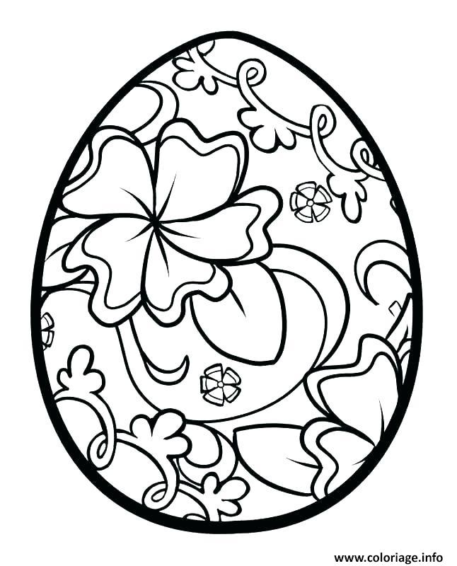 coloriage oeufs de paques motif de fleurs dessin. Black Bedroom Furniture Sets. Home Design Ideas