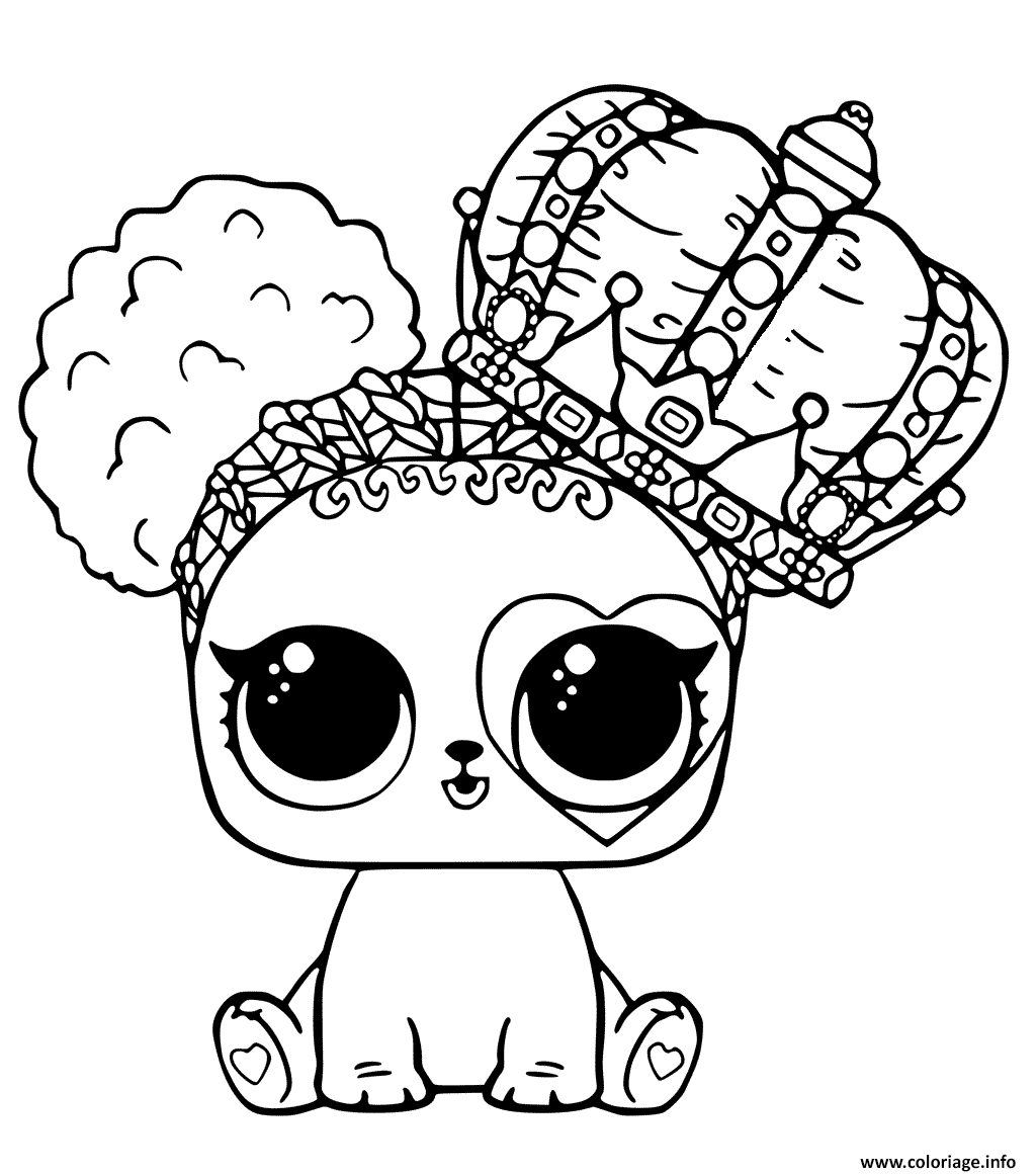 Coloriage Poupee Lol Cute Lol Surprise Pets Dessin