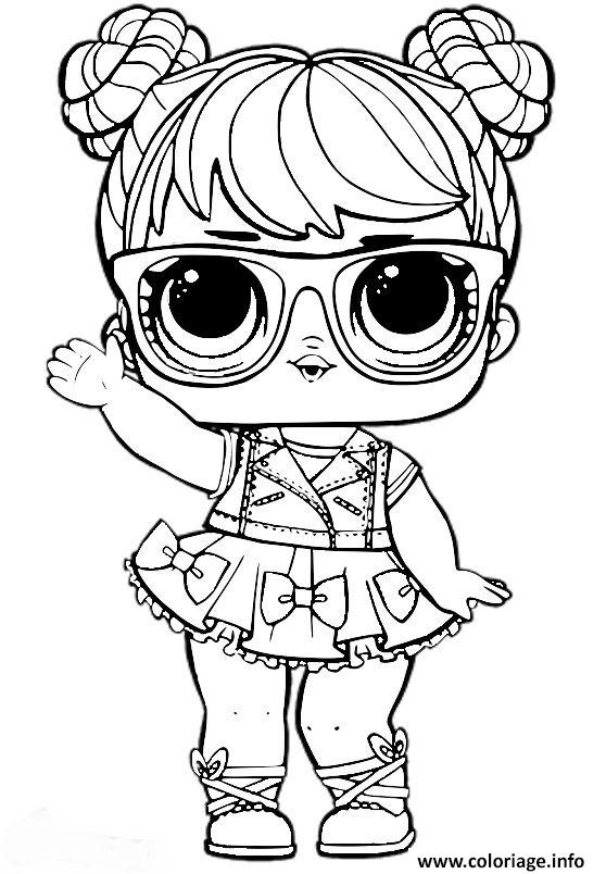Coloriage Poupee Lol Surprise Pour Fille Jecoloriecom