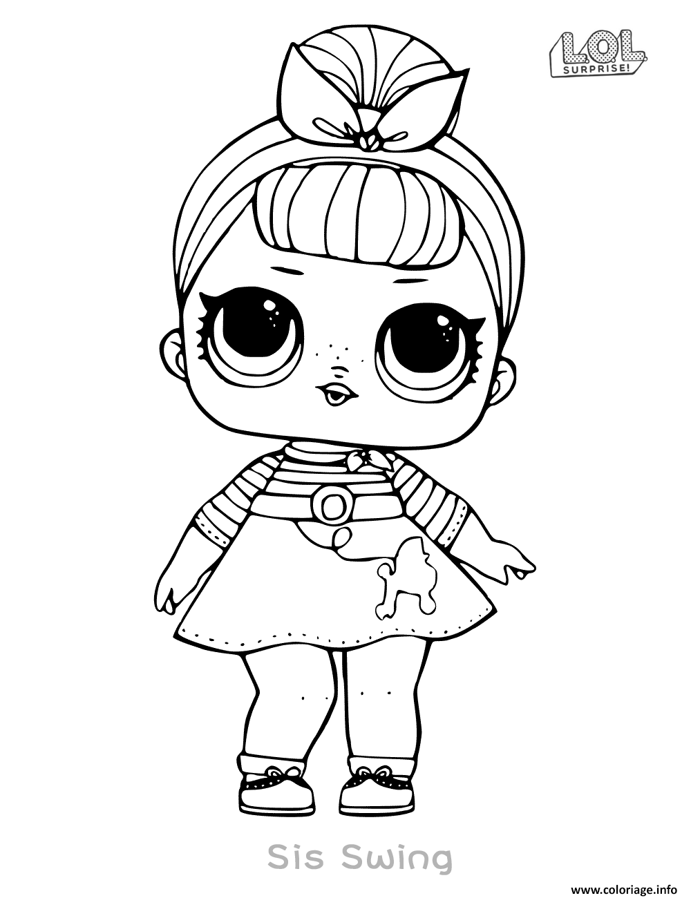 Dessin Poupee LOL Surprise Doll Sis Swing Coloriage Gratuit à Imprimer