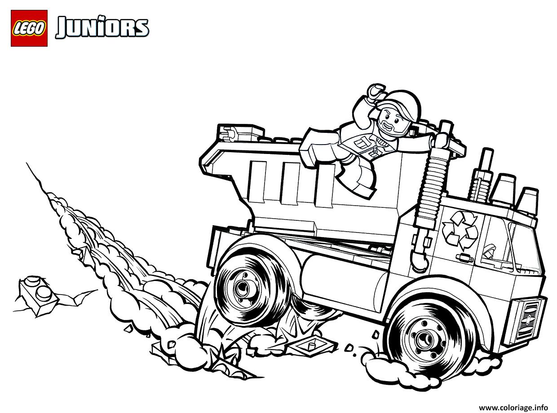 Dessin lego garbage truck Coloriage Gratuit à Imprimer