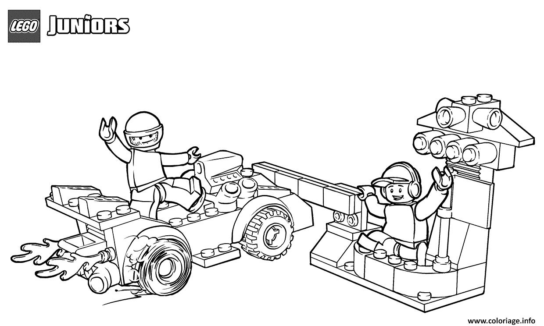 Dessin lego race car pit stop Coloriage Gratuit à Imprimer