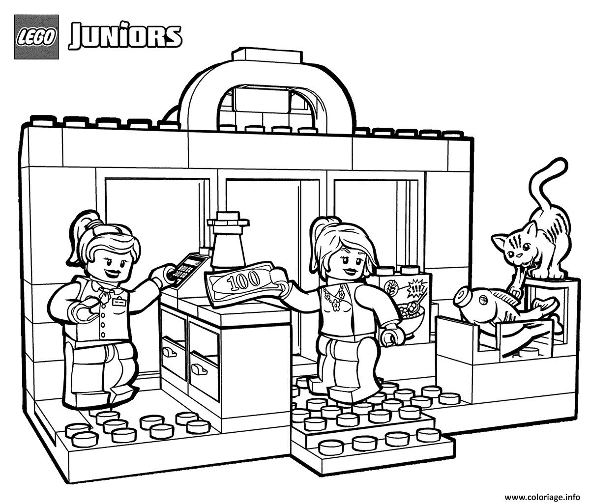Dessin lego shopping Coloriage Gratuit à Imprimer