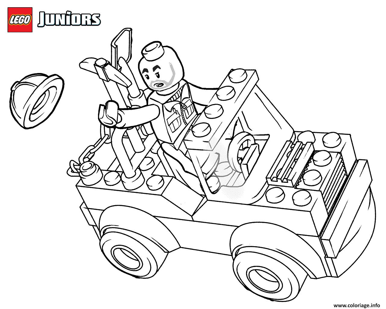 Dessin lego construction mini truck Coloriage Gratuit à Imprimer