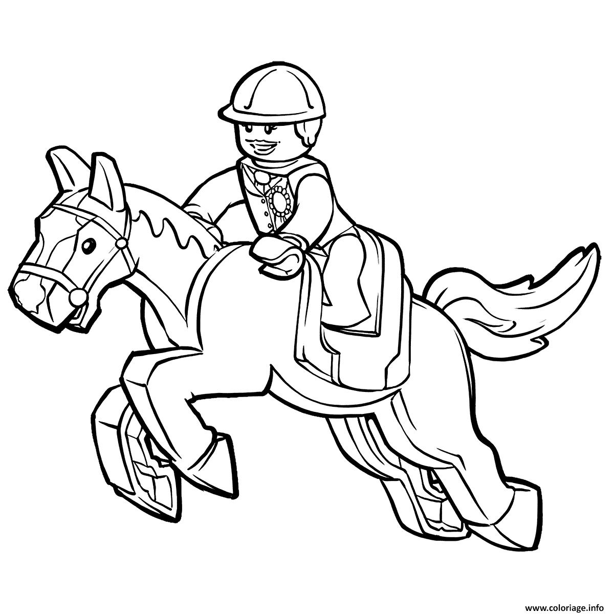 Dessin lego horse Coloriage Gratuit à Imprimer