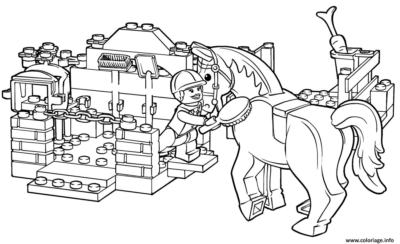 Dessin lego horse grooming Coloriage Gratuit à Imprimer
