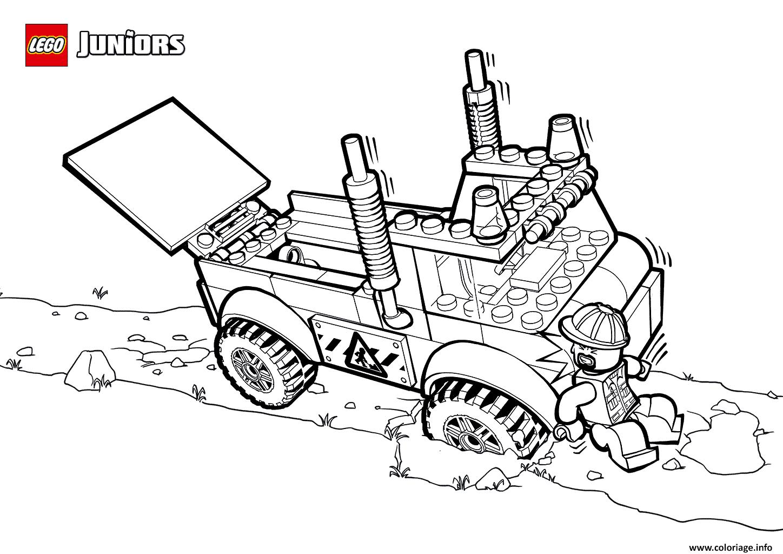 Dessin lego truck Coloriage Gratuit à Imprimer