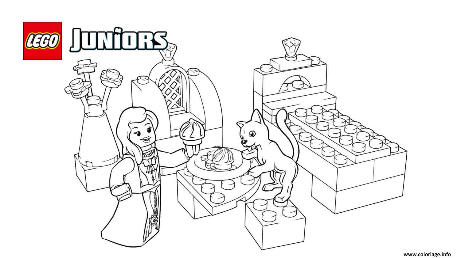 Coloriage Princesse Lego.Coloriage Lego Juniors Princess Play With Pets Dessin