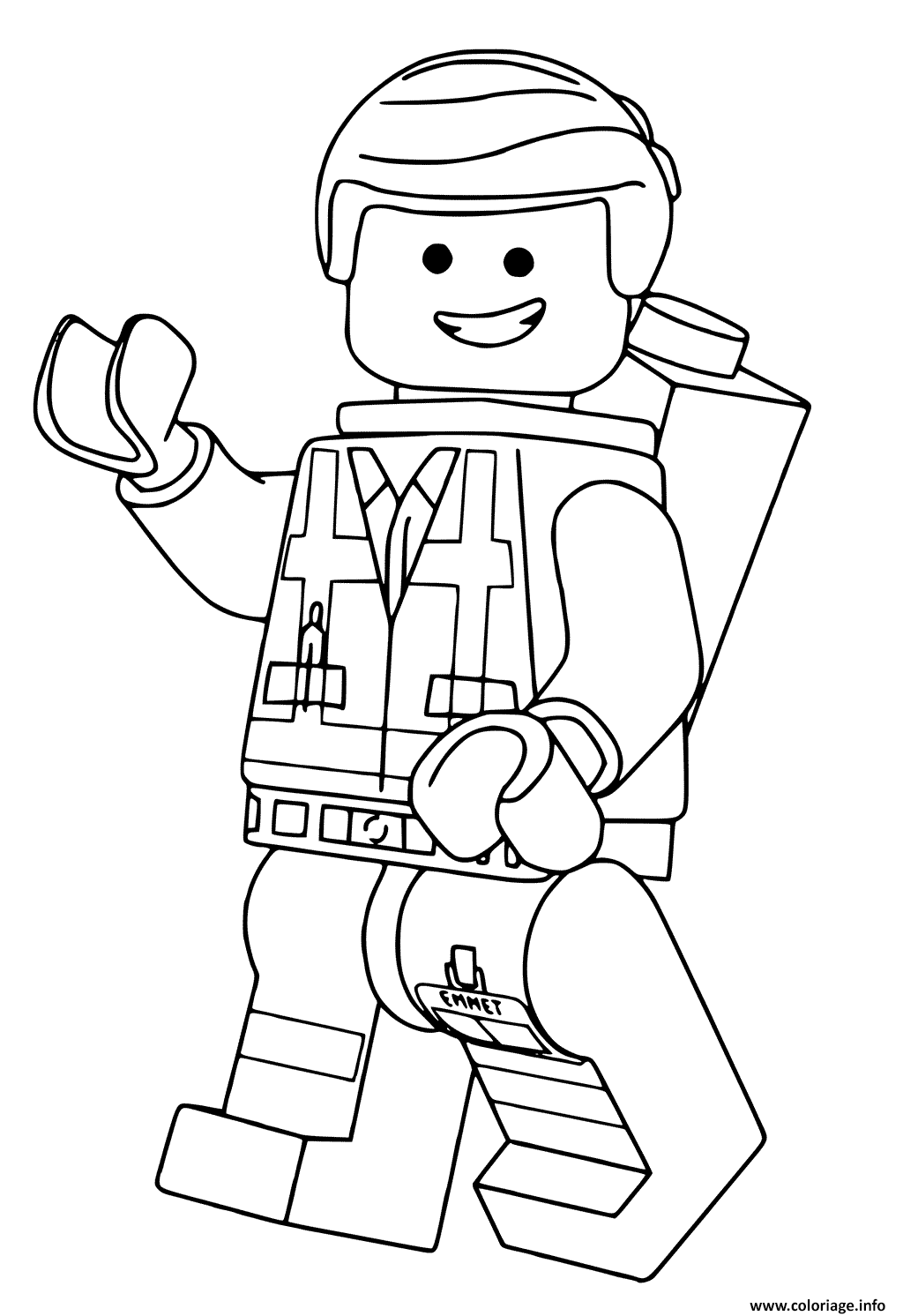 Coloriage Lego Emmet Film Grande Aventure 2 Dessin