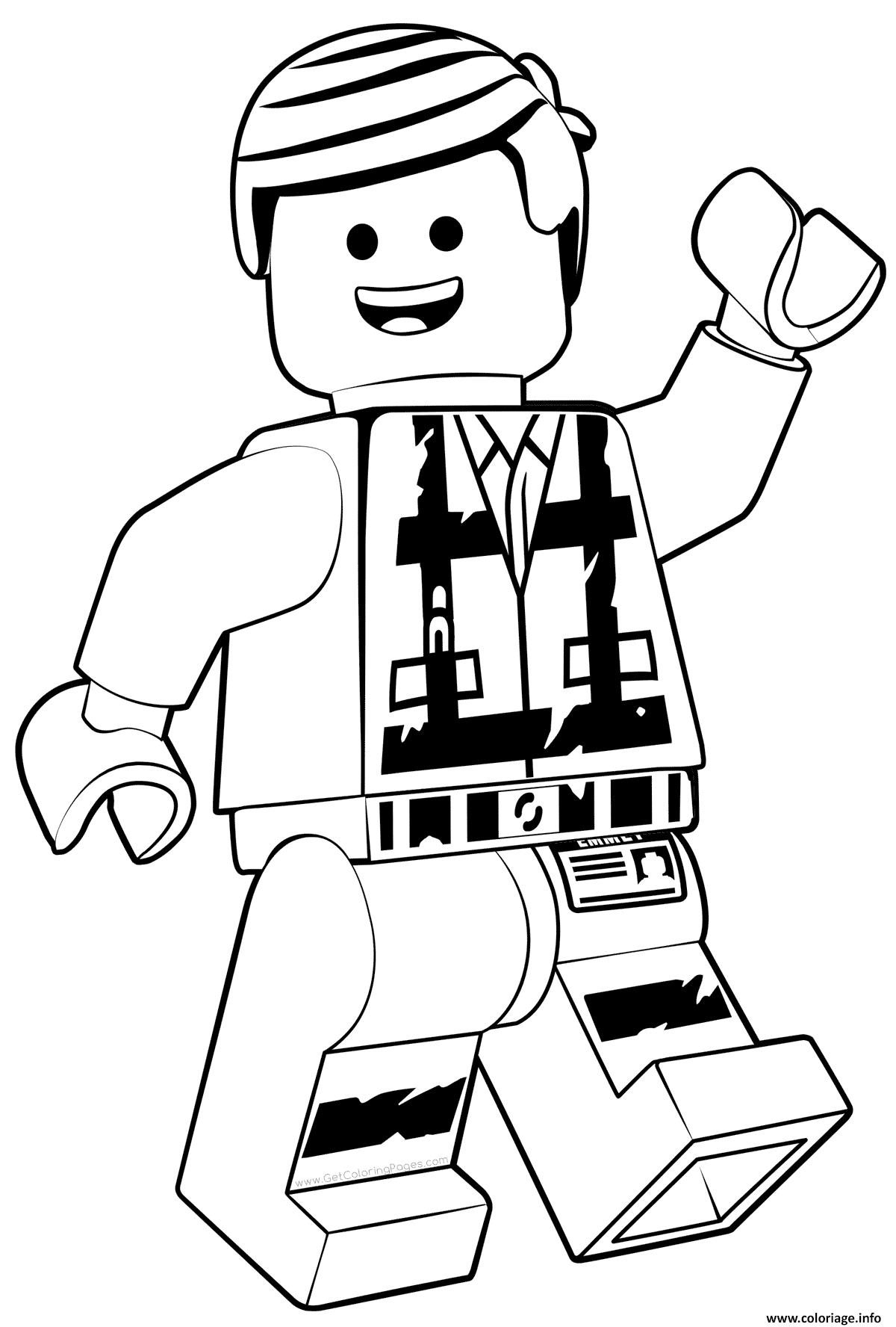 Coloriage LEGO Emmet La Grande Aventure 2 Dessin Lego à imprimer