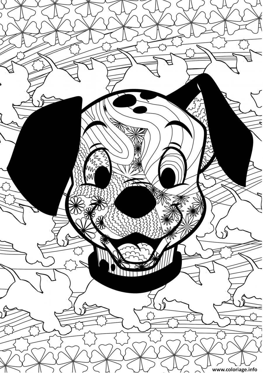 Dessin puppies disney adulte Coloriage Gratuit à Imprimer