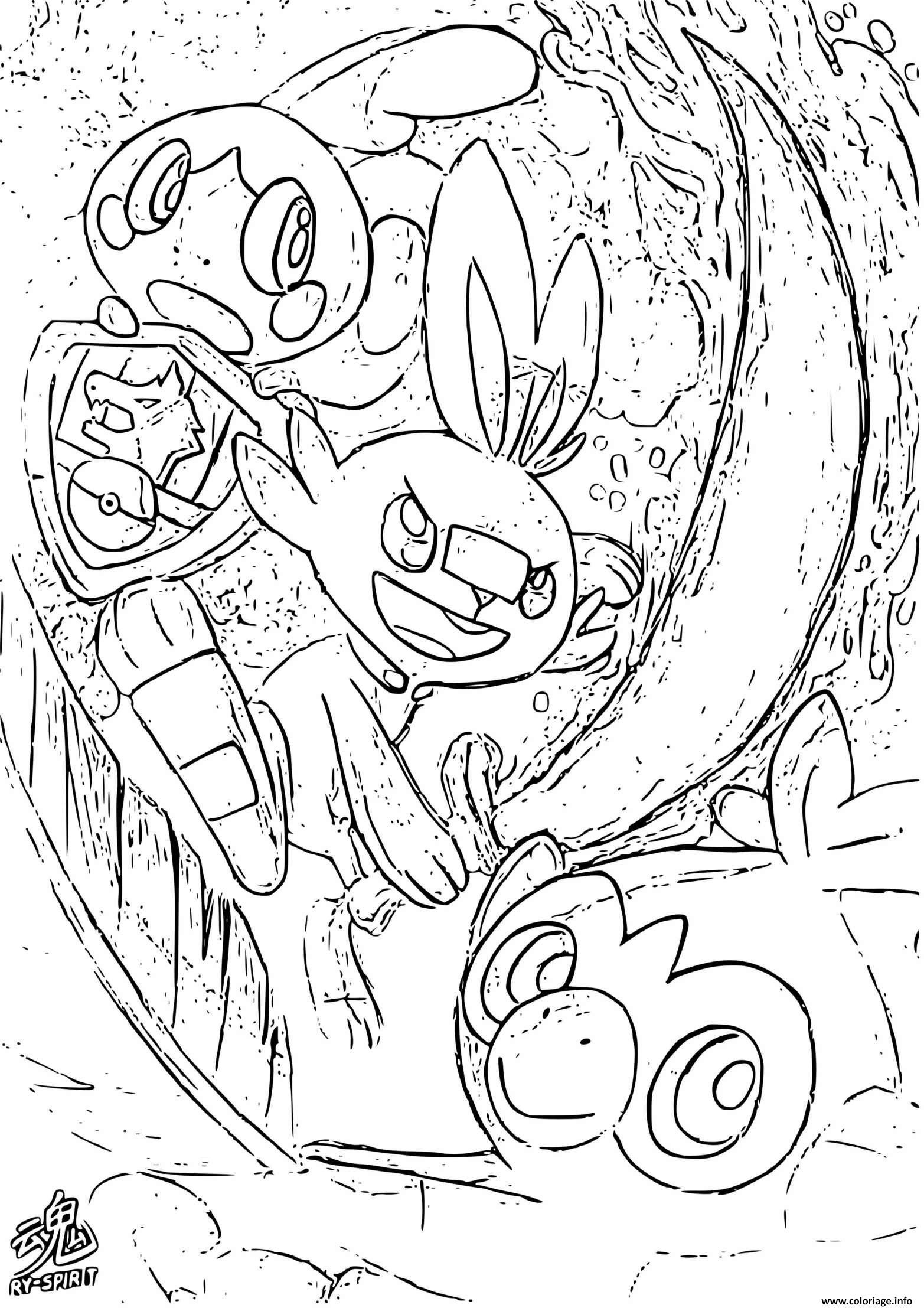 Dessin pokemon sword and shield by ryspirit Coloriage Gratuit à Imprimer