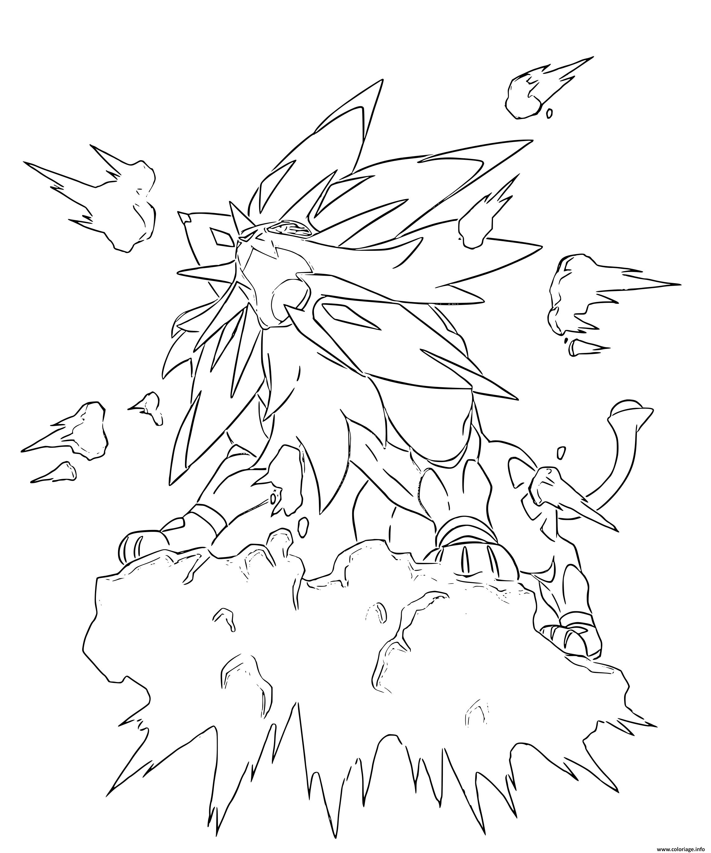 Dessin Solgaleo Pokemon Legendaire Coloriage Gratuit à Imprimer