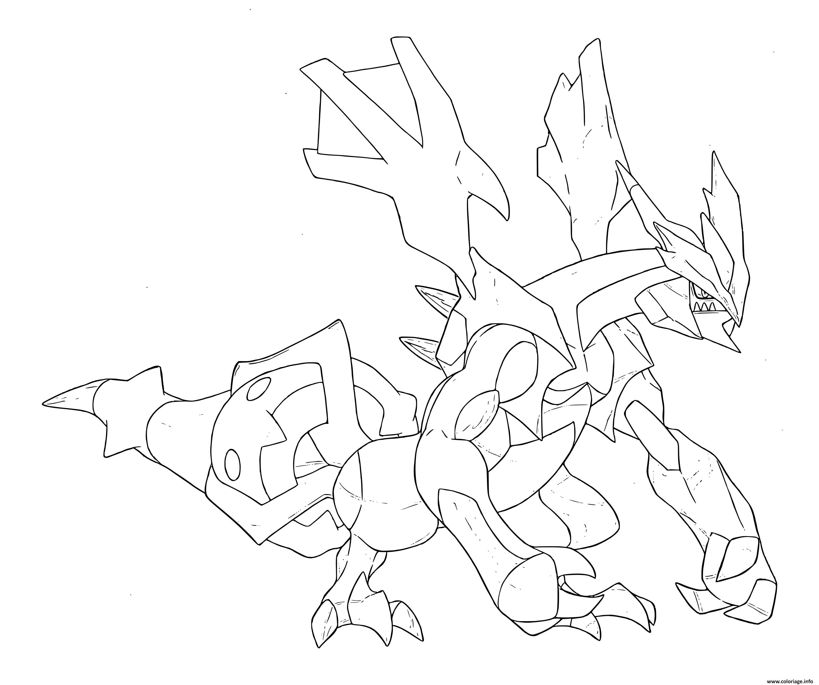 Coloriage Pokemon legendaire hd - JeColorie.com