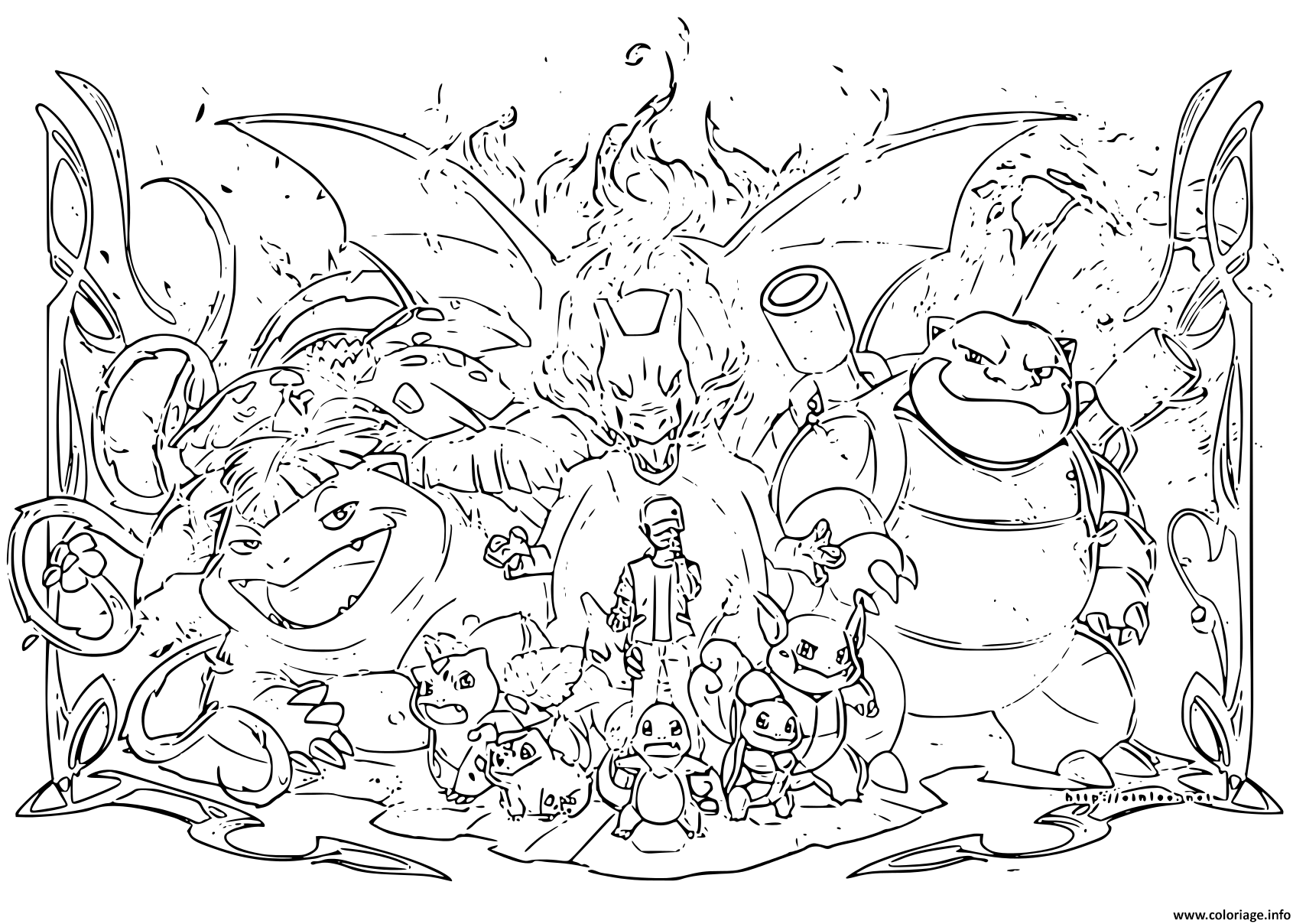 Coloriage Pokemon Evolution 2019 Dessin