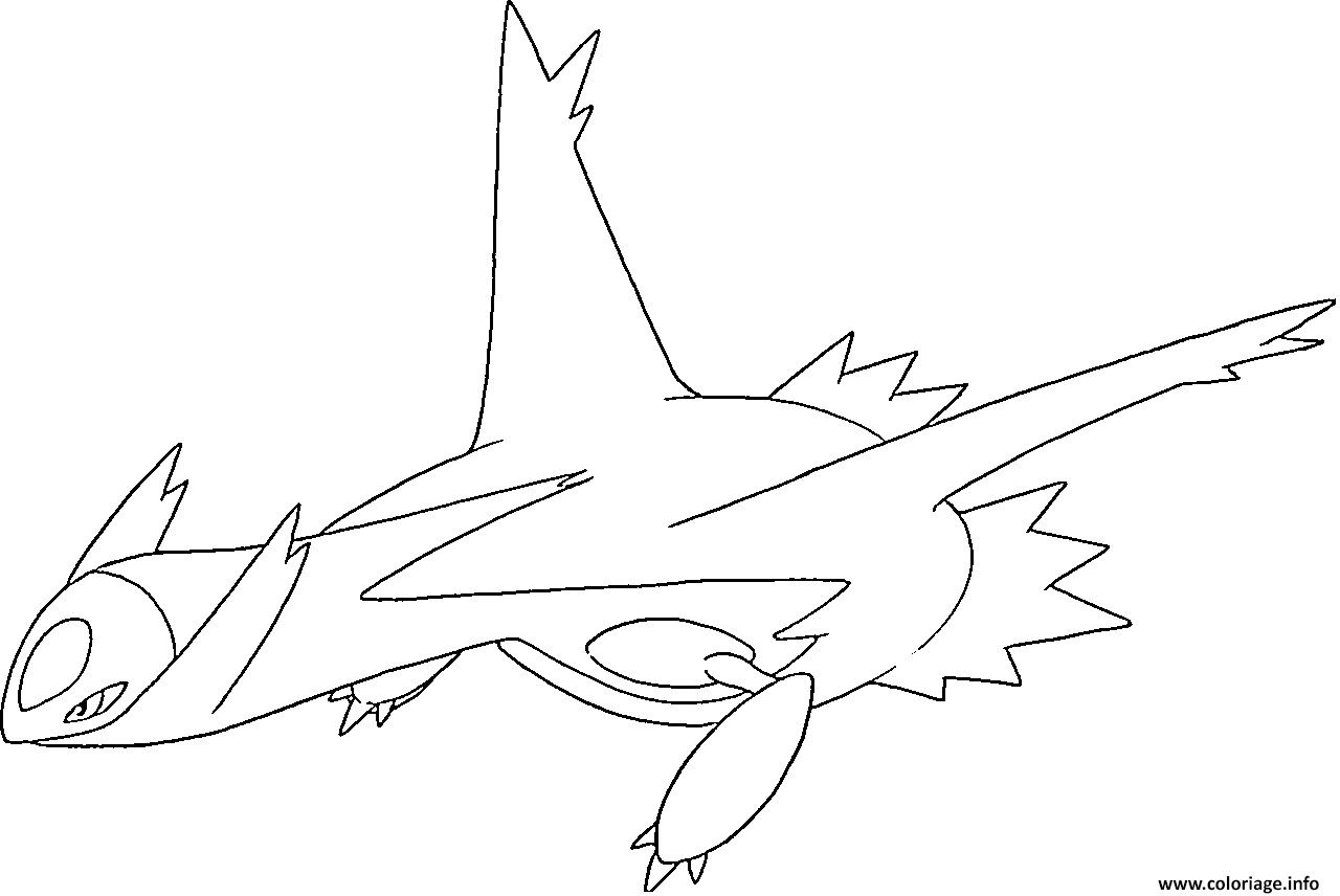 Coloriage Latios Generation 3 Dessin
