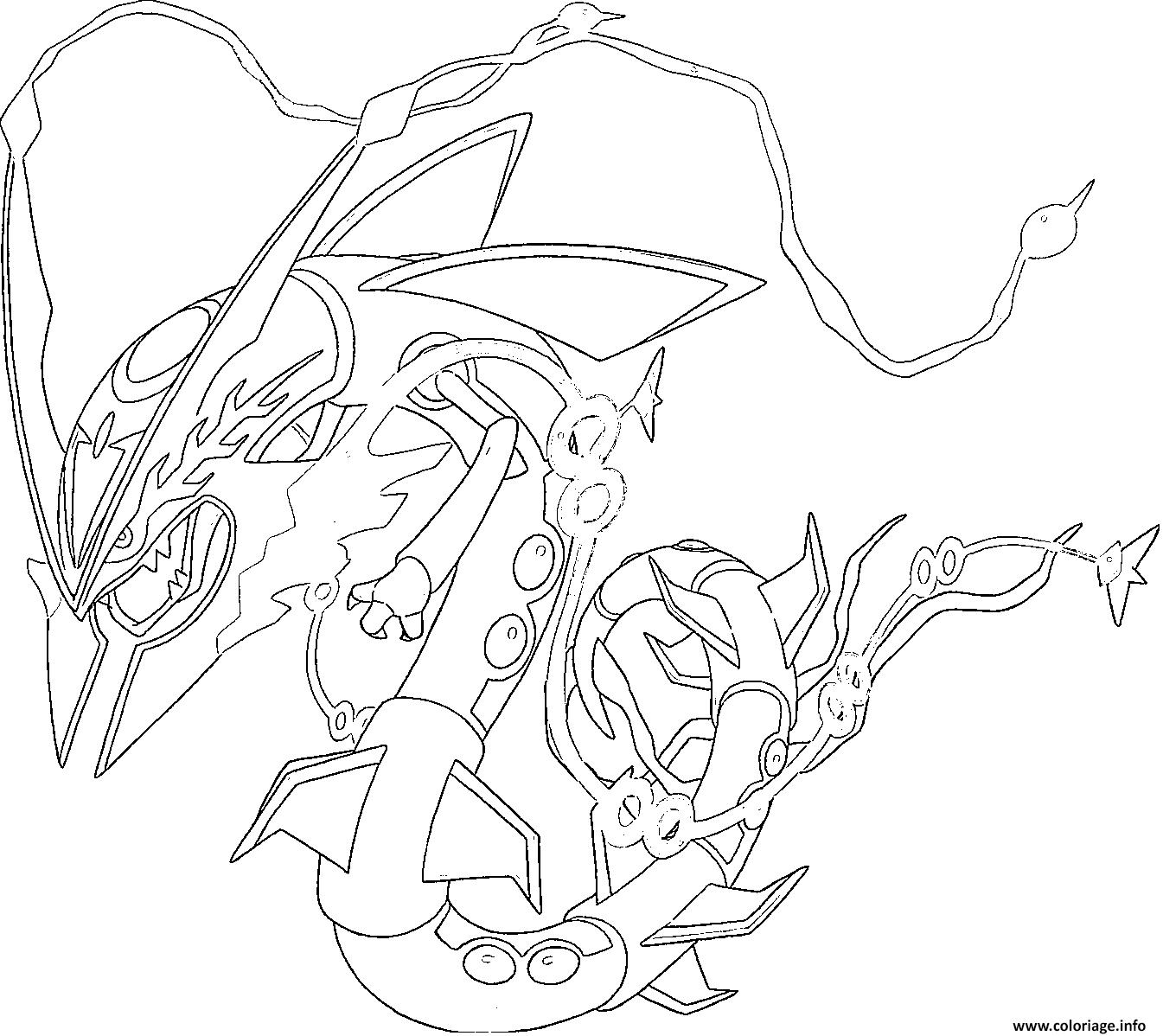 Coloriage Mega Rayquaza Rubis Omega Et Saphir Alpha Dessin Pokemon ...