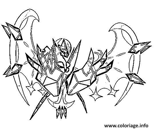 Coloriage Necrozma Aa Pokemon Cosmiques Generation 7 Dessin