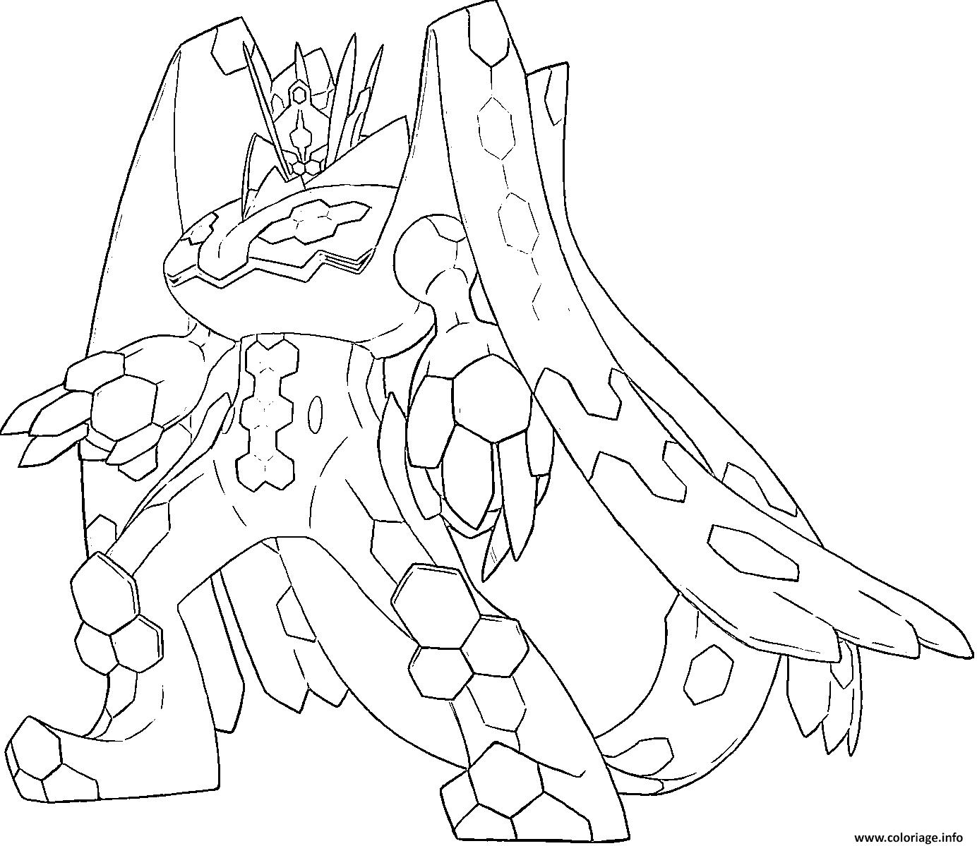 Coloriage Zygarde P Pokemon Generation 7 Dessin