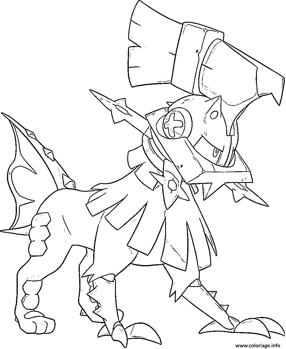 Coloriage Type 0 Pokemon Multigenome Generation 7 Dessin ...