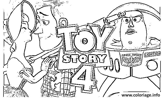 Dessin toy story 4 Coloriage Gratuit à Imprimer