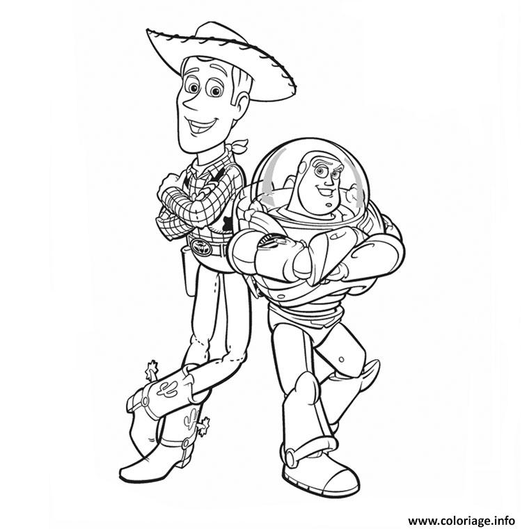 Coloriage Woody Et Buzz Jecolorie Com