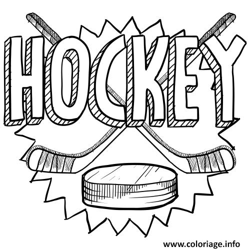 Coloriage Jouer Au Hockey Sport Dessin