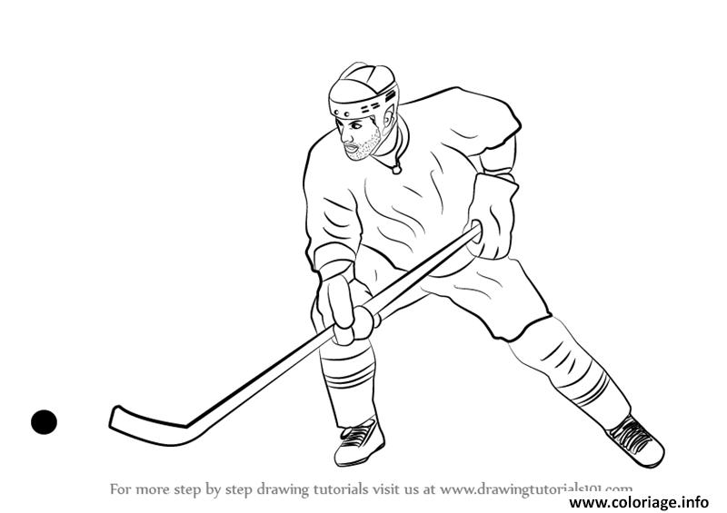 Coloriage Dessin De Joueur De Hockey Dessin