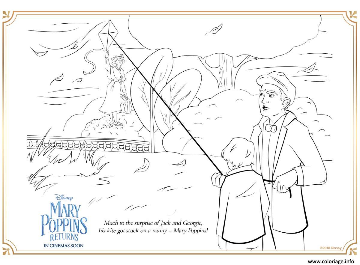 Dessin Disney Le Retour de Mary Poppins Coloriage Gratuit à Imprimer