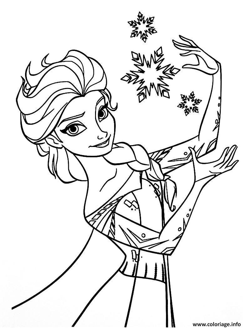 Coloriage disney la reine des neiges 2 - JeColorie.com