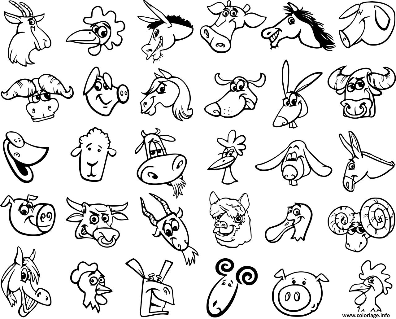 Coloriage animaux de la ferme - JeColorie.com