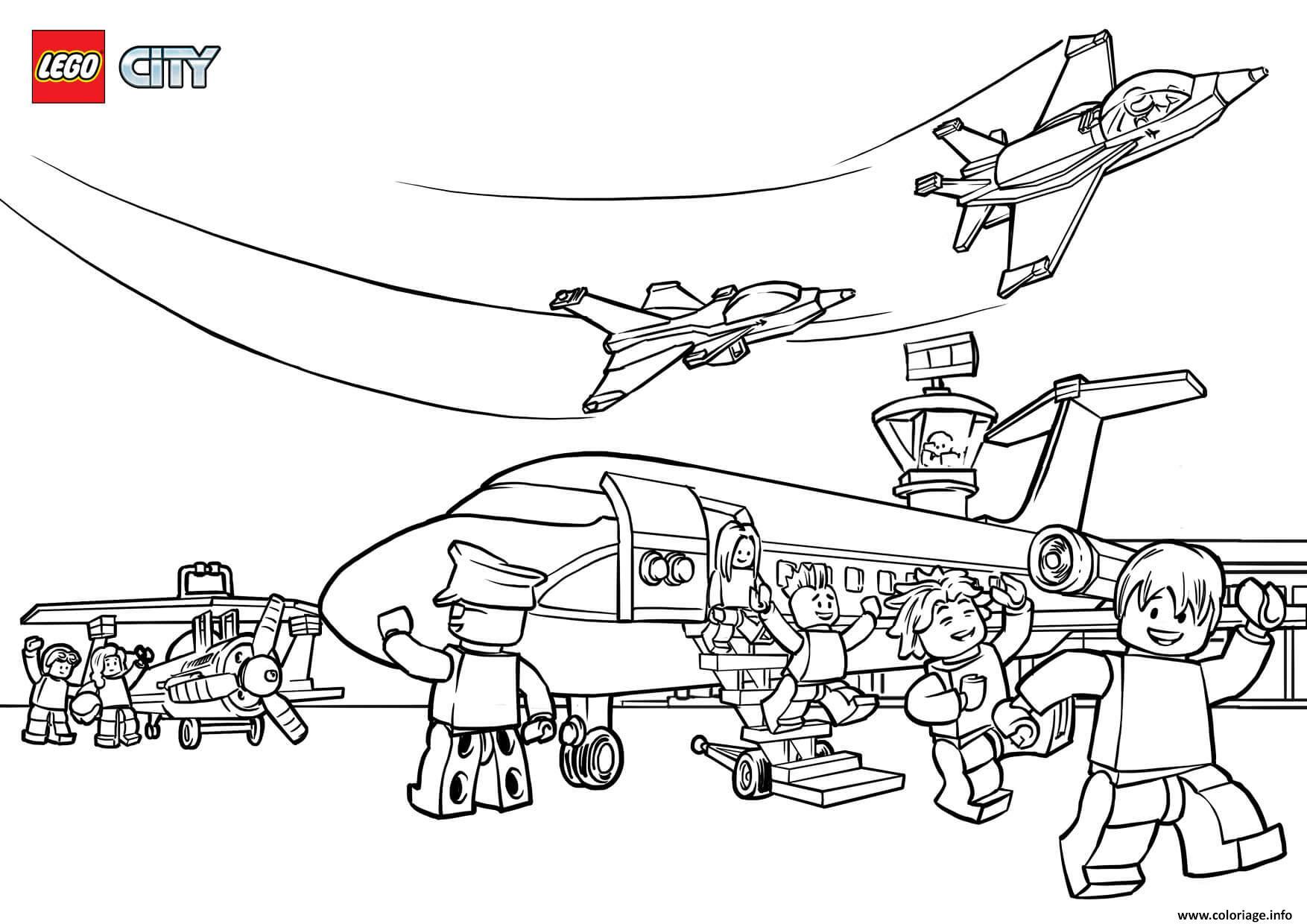 Coloriage Lego City Airport dessin