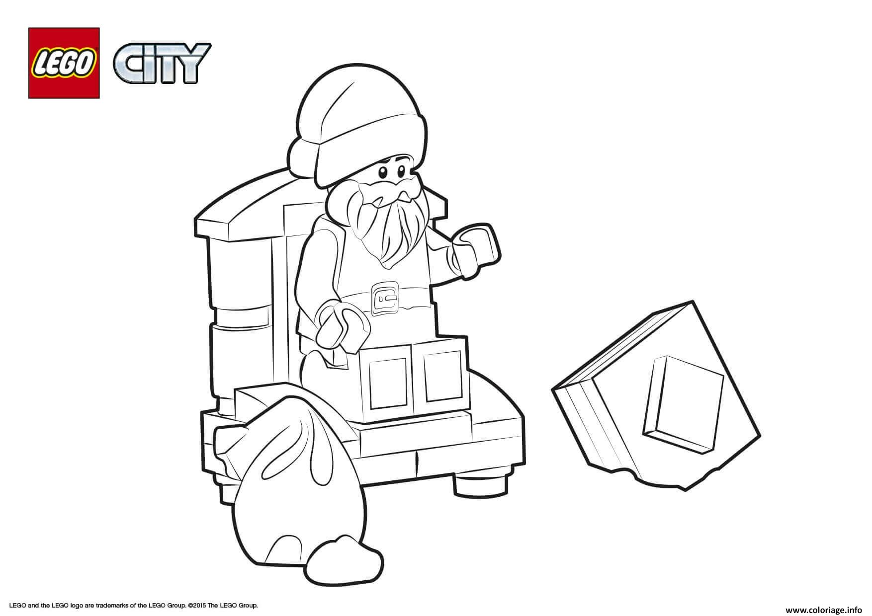 Dessin Lego City Santa Claus Coloriage Gratuit à Imprimer