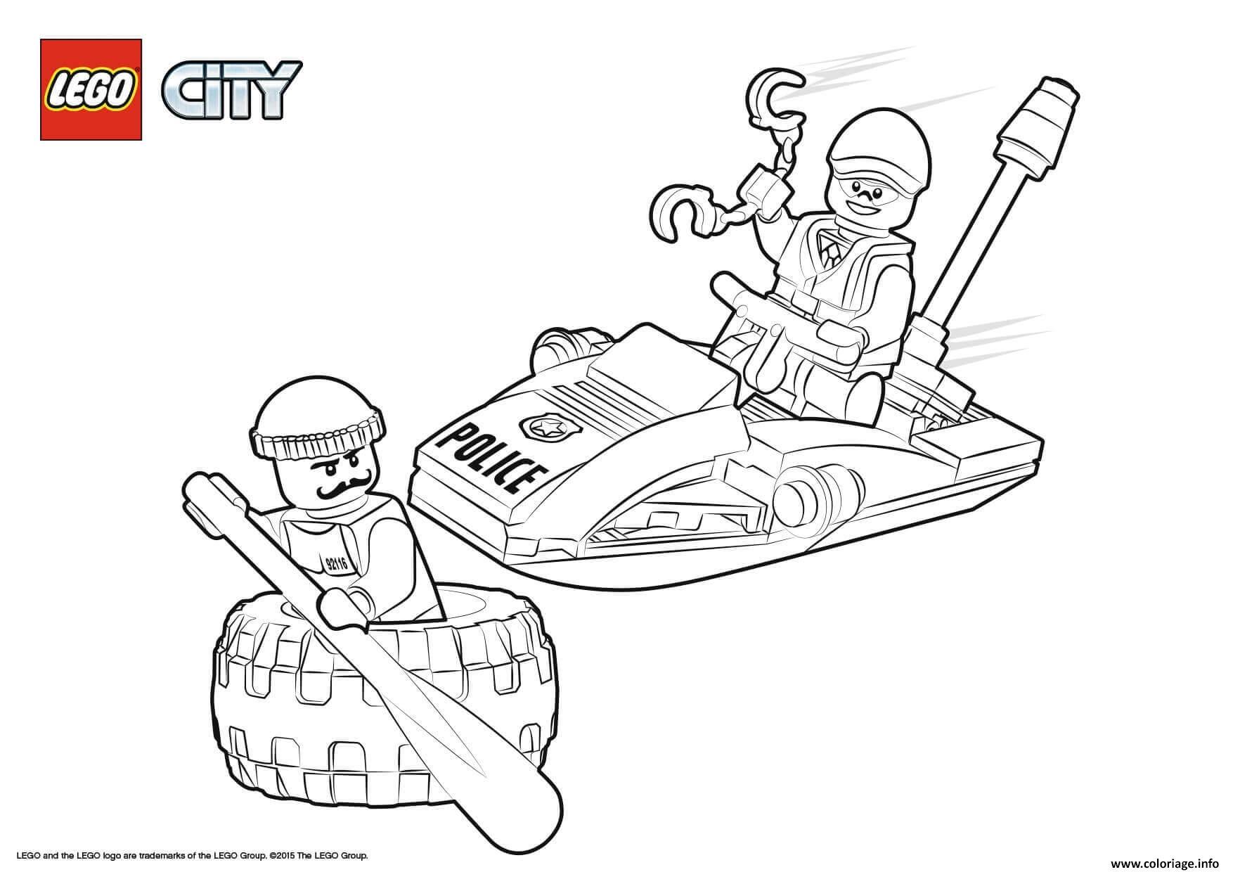 Dessin Lego City Police Tire Escape Coloriage Gratuit à Imprimer