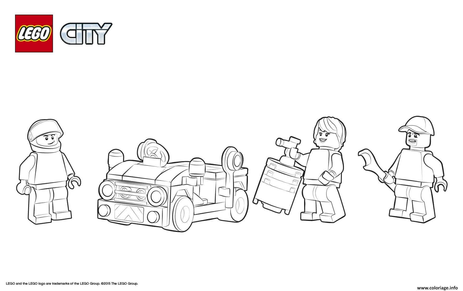 Dessin Lego City Training Jet Transporter Coloriage Gratuit à Imprimer